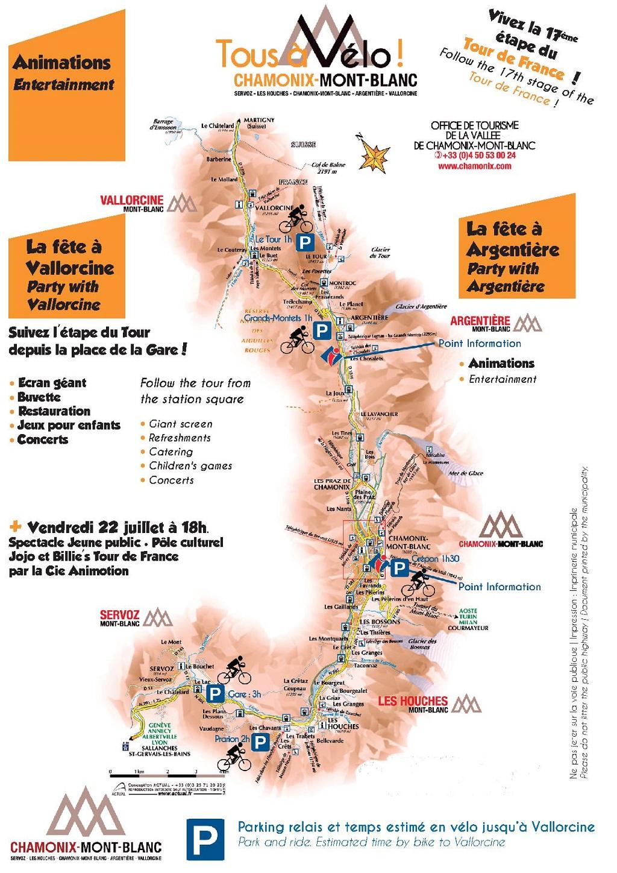 Circulation dans la vall e de chamonix a l 39 occasion de la 17e etape du tour de france le - Office tourisme argentiere ...